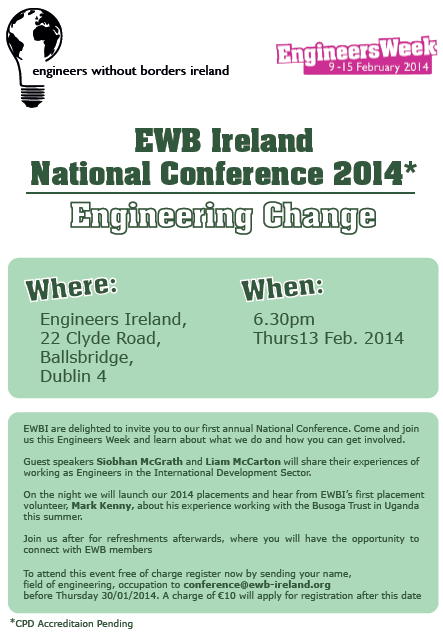 EWB Ireland National Conference