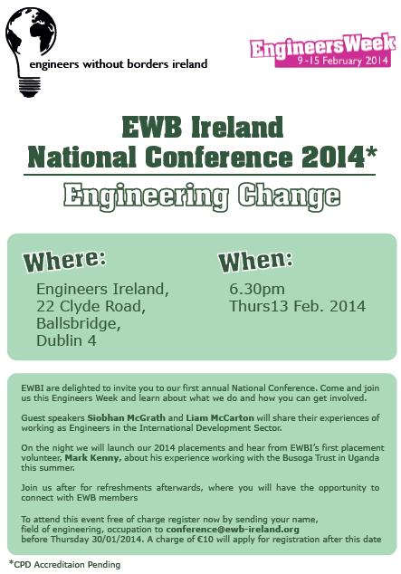 EWB Ireland National Conference