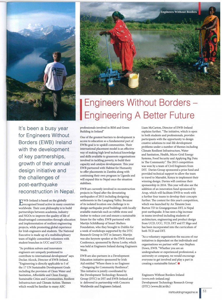Irish Building Magazine Article