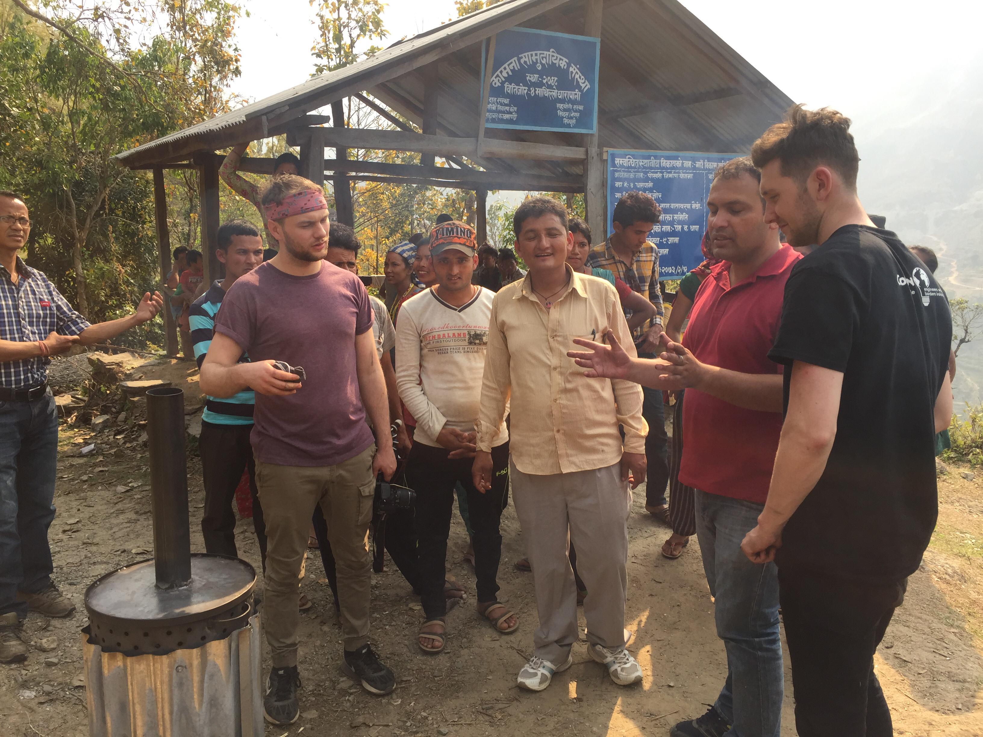 Testing the Biochar Kiln at Bitijor Village